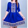 ROCHIE cu motive traditionale tesute stilizata - SORINA 1 (albastra)