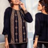 Bluza din tricot cu model stilizat traditional - neagra 2