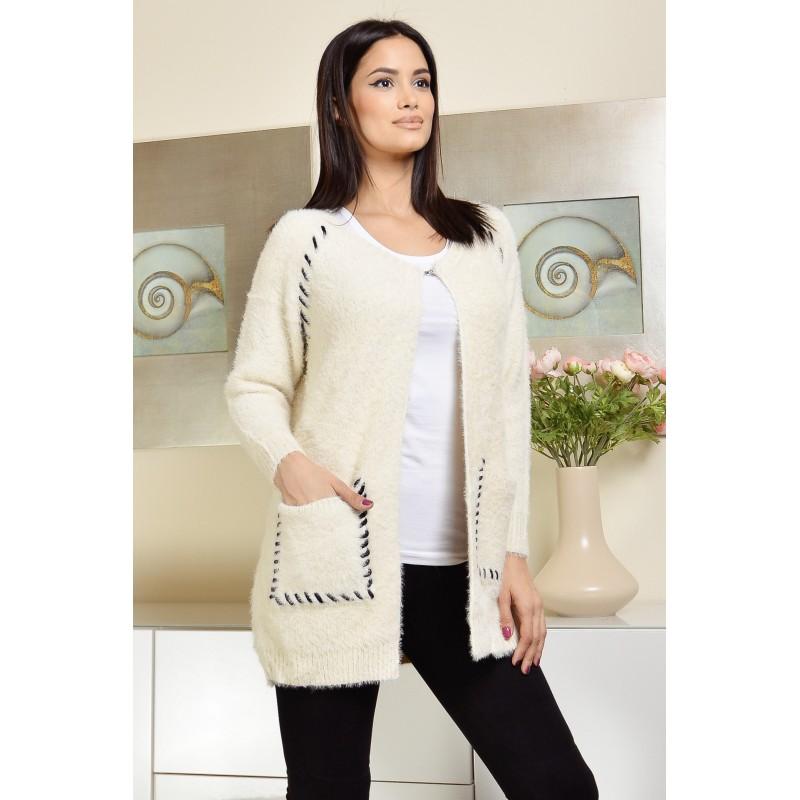 Cardigan din tricot cu motive traditionale - Violeta