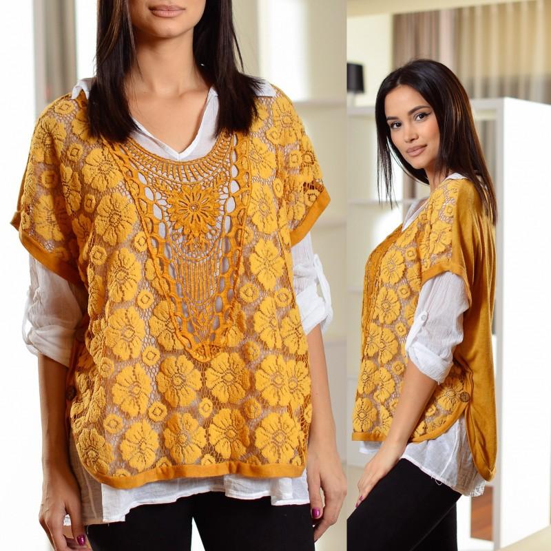 Set format din bluza si camasa din bumbac