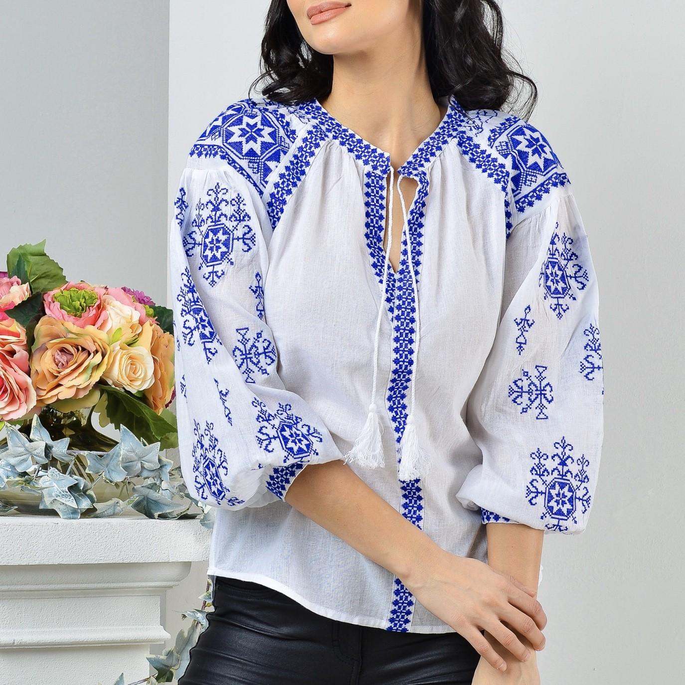 Reducere Bluza Traditionala brodata Ilinca | Goosales.ro