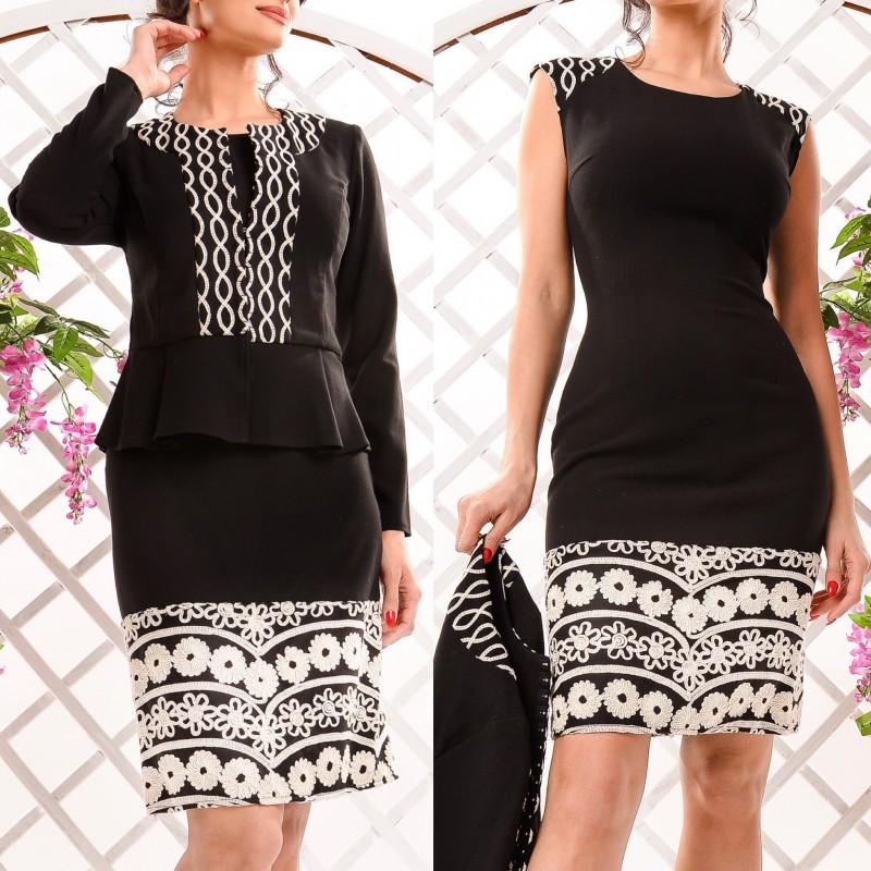 Set format din rochie si cardigan - negru