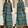 Rochie lunga cu imprimeu multicolor - 02