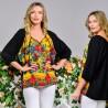 Bluza galbena cu imprimeu floral - Luminita