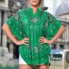 Bluza fluture verde cu imprimeu floral