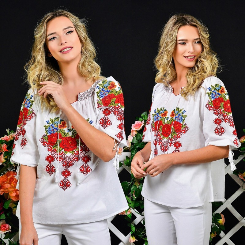 IE Nationala cu broderie florala - Madalina