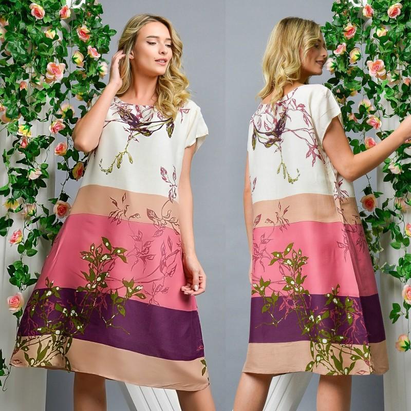 Rochie lejera cu imprimeu floral - Anastasia 02
