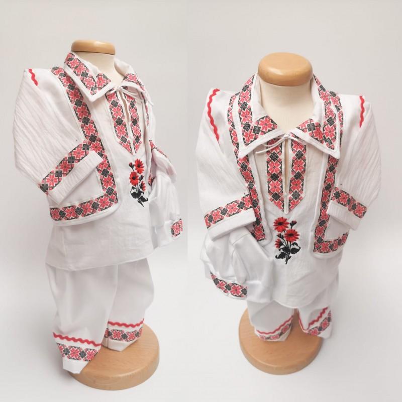 Costum National pentru botez - baieti