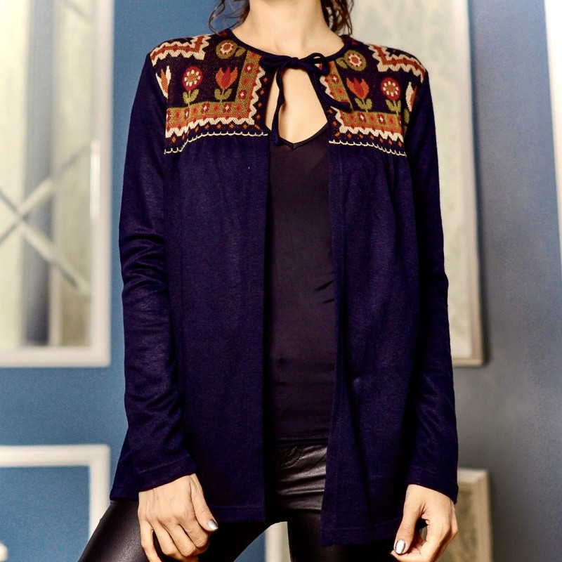 Cardigan din tricot cu motive traditionale - Violeta