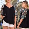 Bluza Nationala oversize cu imprimeu - Malina
