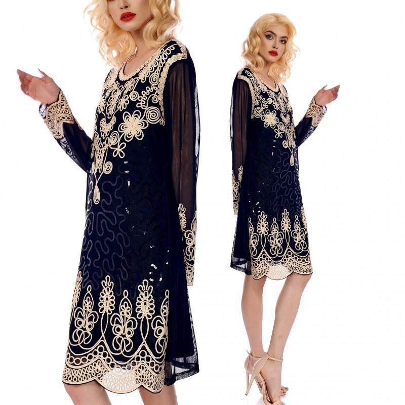 Rochie eleganta din matase - Malina