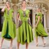 Rochie lunga stilizata verde - Amanda 02