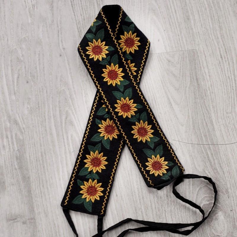 Brau traditional brodat - floarea soarelui 15