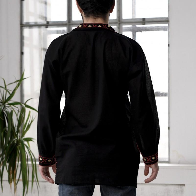 Camasa Traditionala barbateasca neagra - Bran