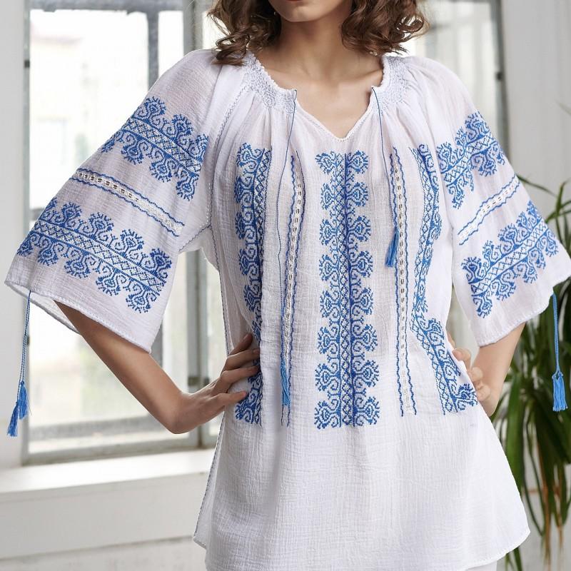 IE cusuta manual creasta albastra  - Cristina