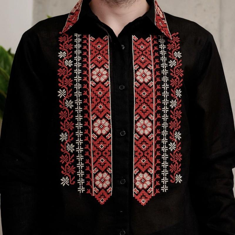 Camasa traditionala barbateasca - Florin neagra 03
