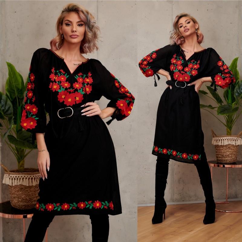 Rochie Traditionala Neagra - Carla