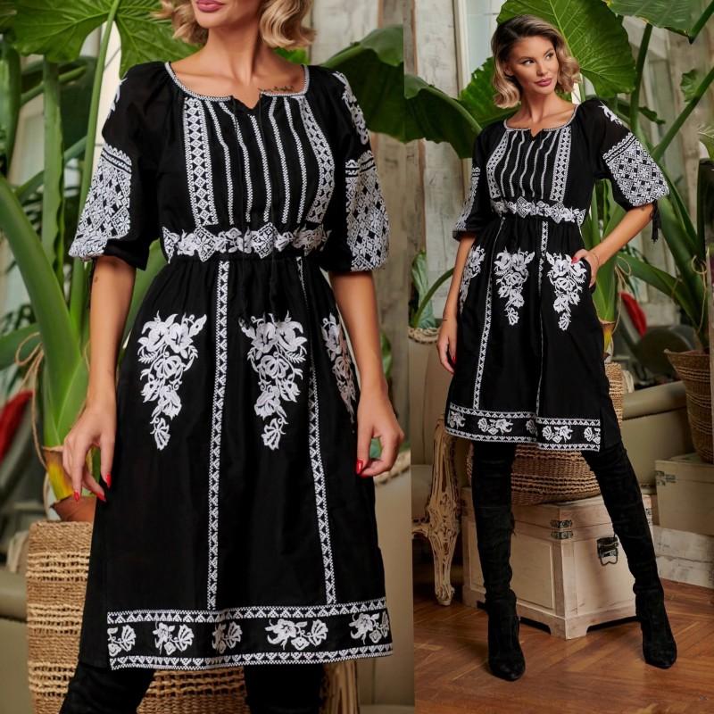 Rochie Traditionala Neagra - Nicolle 01