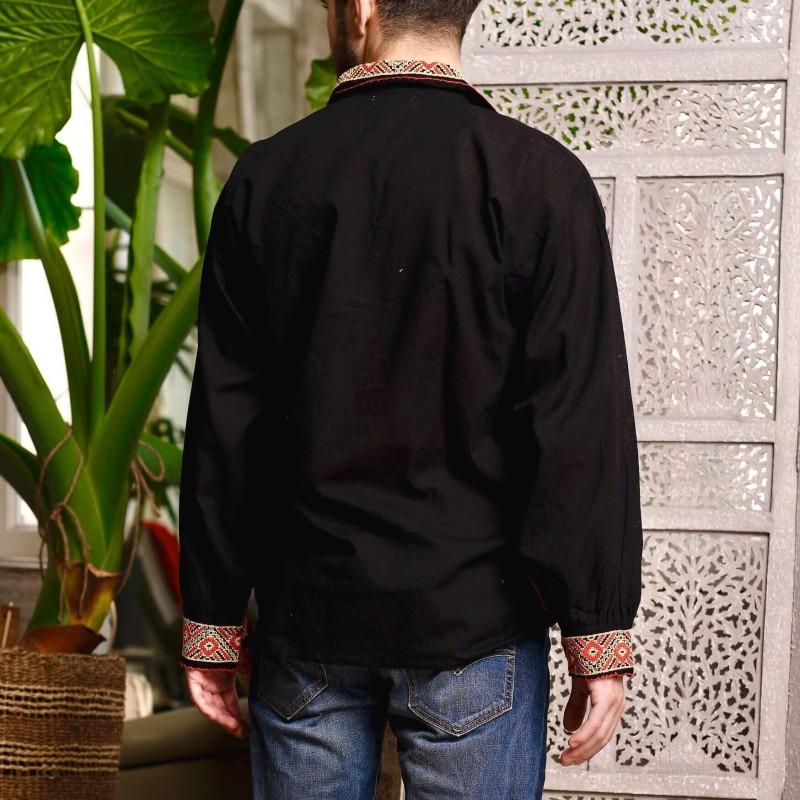 Camasa Traditionala barbateasca - Calin neagra 01
