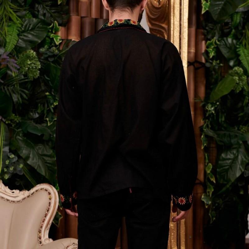 Camasa Traditionala barbateasca neagra - Florin