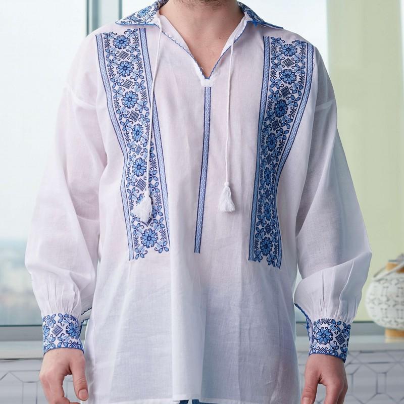 Camasa Traditionala barbateasca - Marin albastra 01