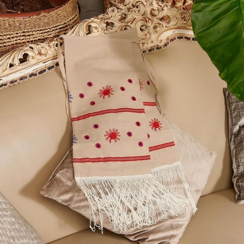 Fota Traditionala cu model floral brodat pentru fetite - Sofia