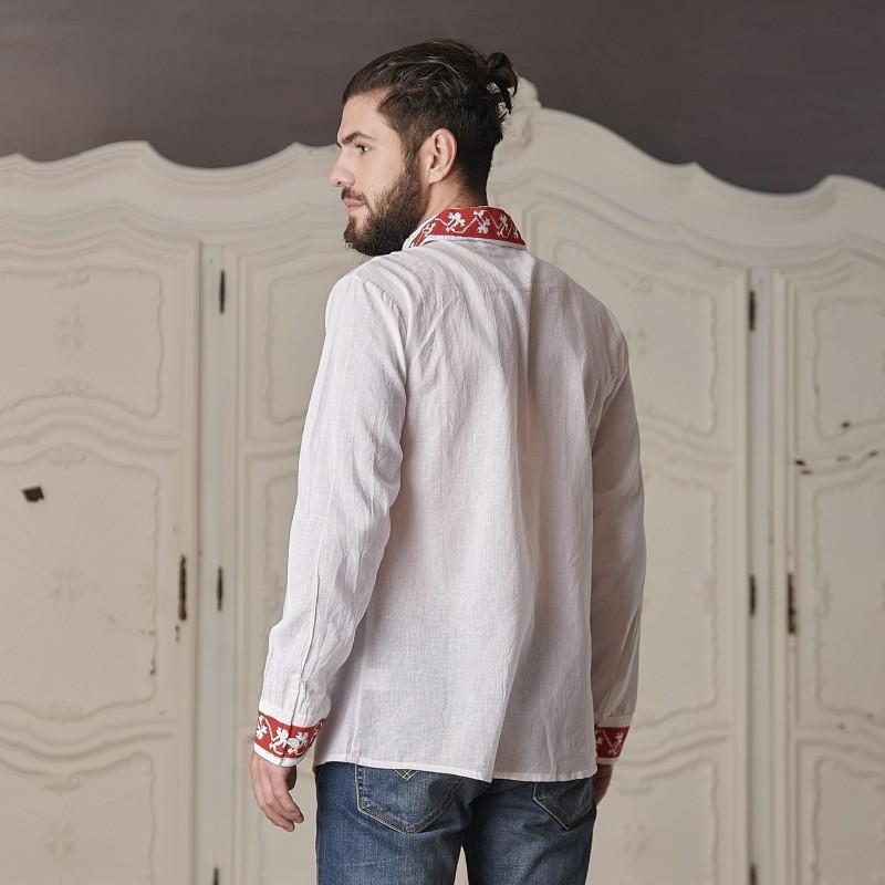 Camasa traditionala barbateasca - Catalin rosu 01