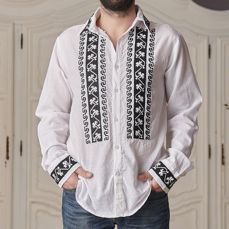 Camasa traditionala barbateasca - Catalin negru 02