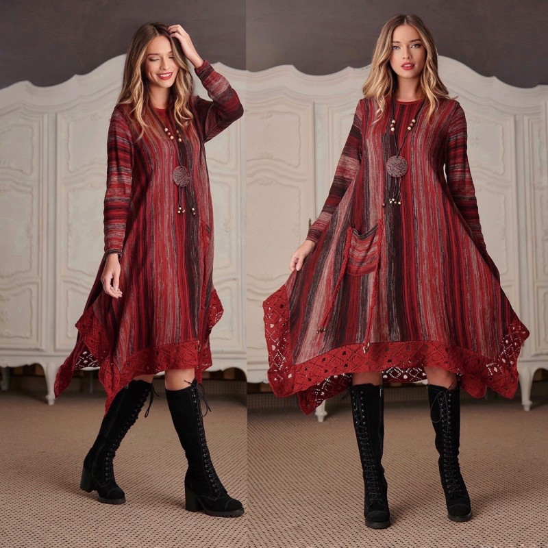 Rochie din tricot asimetrica - Carmen