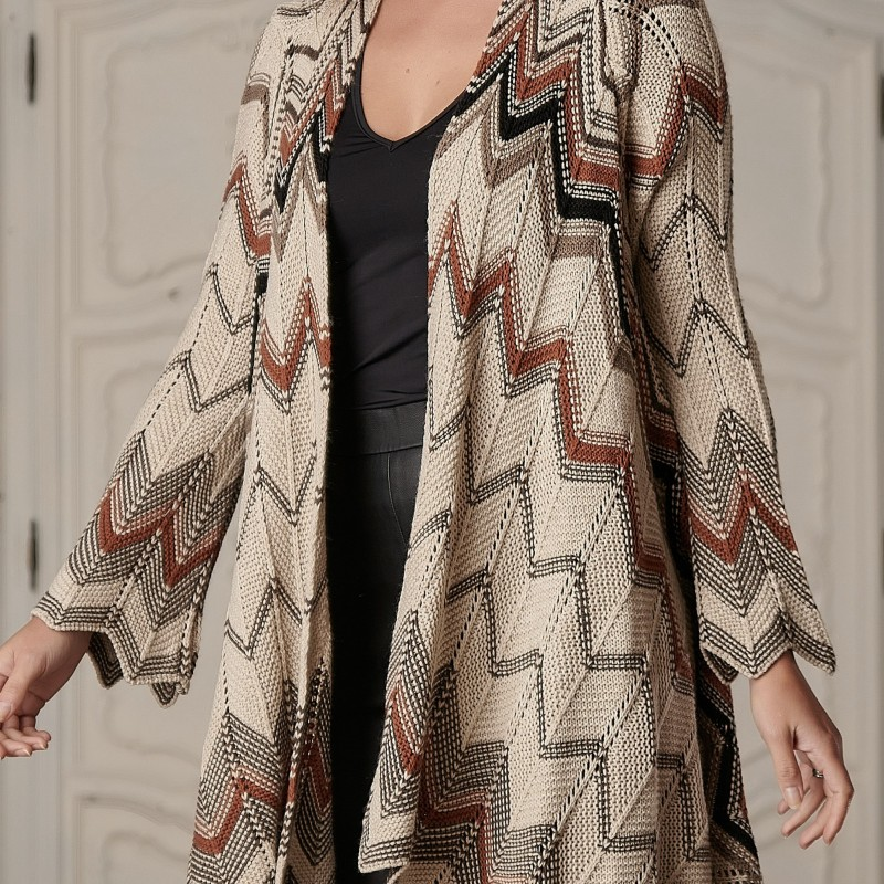 Cardigan National oversize din tricot - Timeea