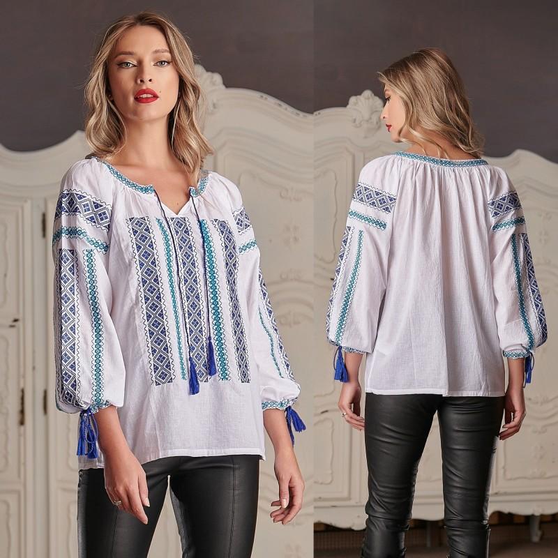 IE Traditionala alba - Tania bleu 01