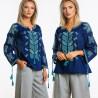 Bluza Traditionala brodata - Sanda 2 bleumarin