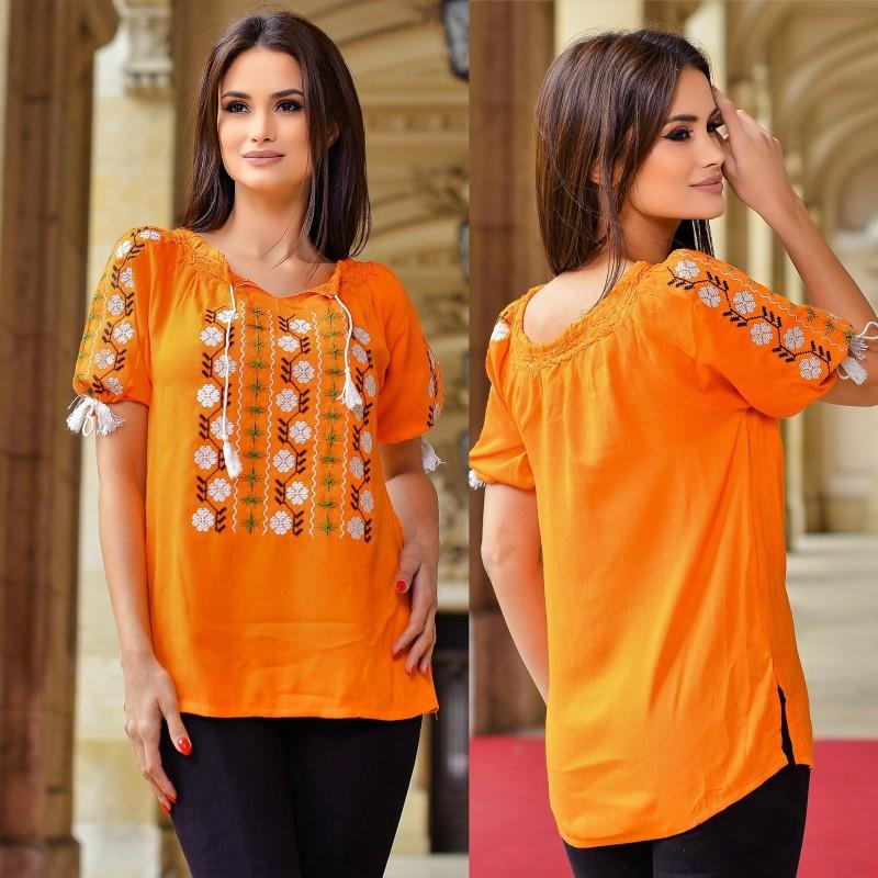Bluza Traditionala Daniela  - portocalie