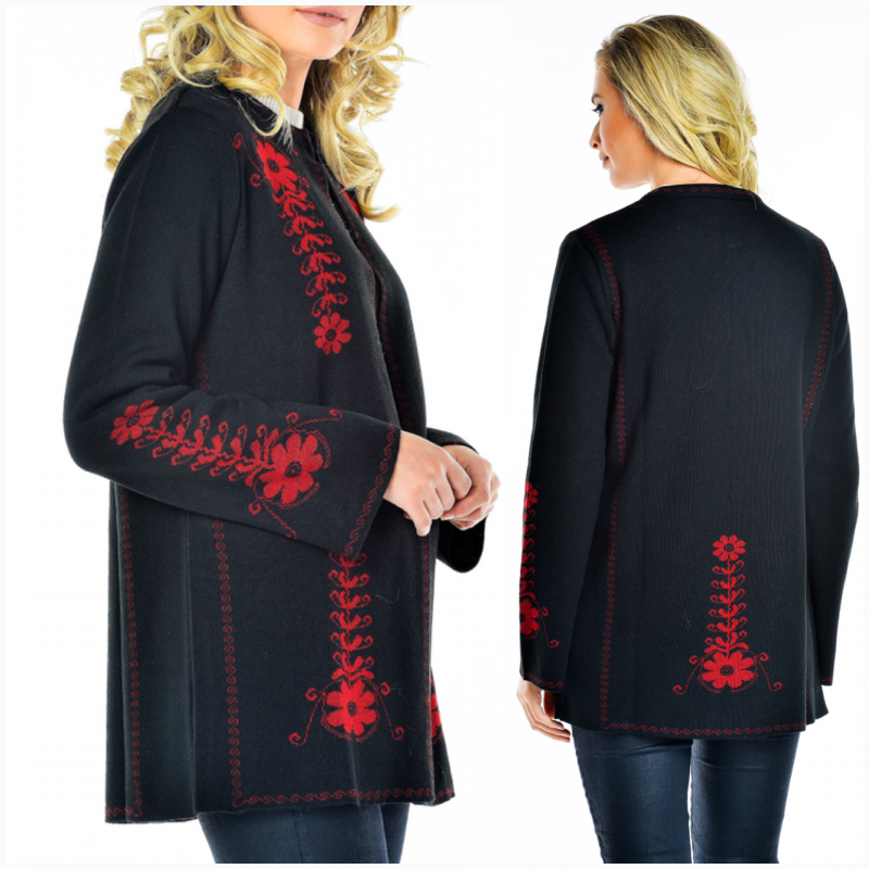 Cardigan traditional din tricot, scurt - Camelia 05