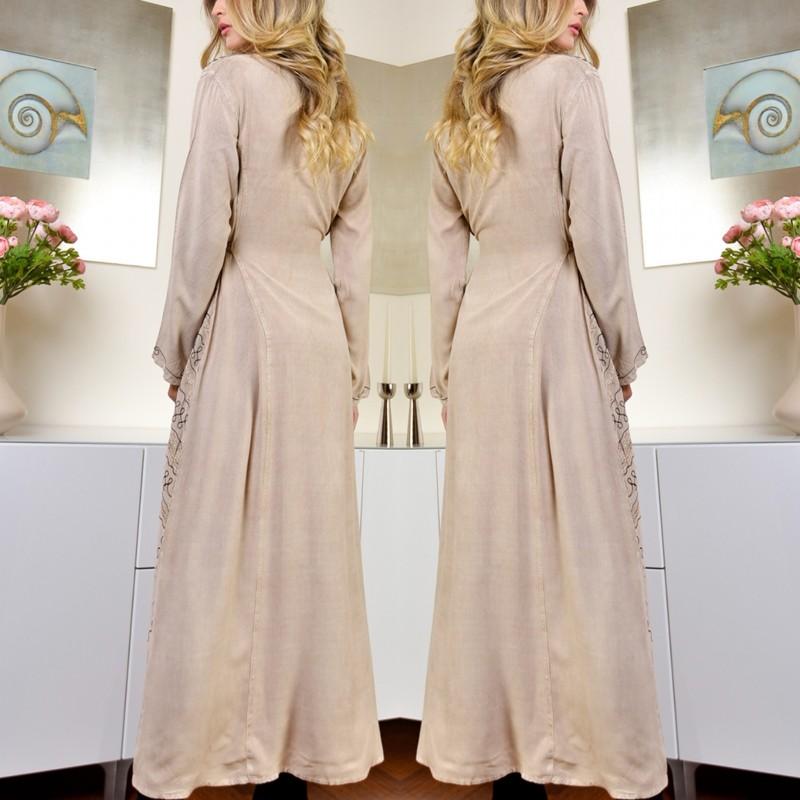Rochie lunga brodata - Lidia