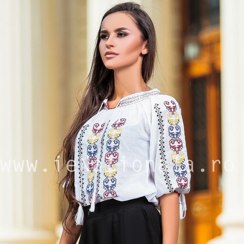 Bluza traditionala Tricolor