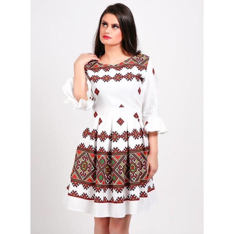 ROCHIE cu motive traditionale tesute stilizata - Sorana